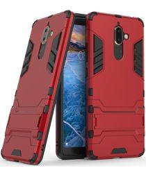 Nokia 7 Plus Hybride Kickstand Cover Rood