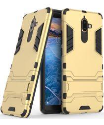 Nokia 7 Plus Hybride Kickstand Cover Goud