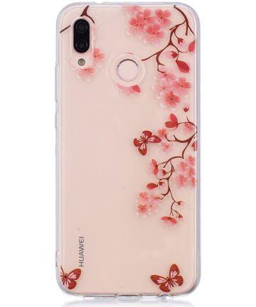 Huawei P20 Lite TPU Backcover met Bloemen Print