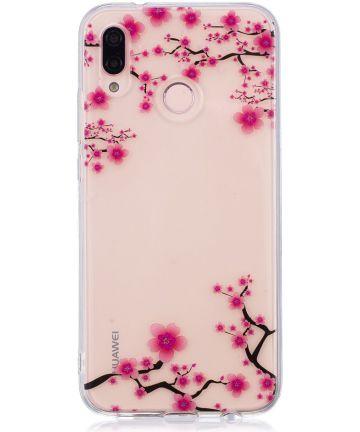 Huawei P20 Lite TPU Backcover met Bloesem Print
