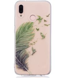 Huawei P20 Lite TPU Backcover met Feathers Print
