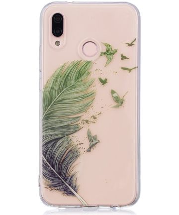Huawei P20 Lite TPU Backcover met Feathers Print Hoesjes