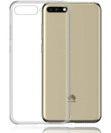 Huawei Y6 (2018) Dual-Sim Hoesje Transparante Back Cover Hoesjes
