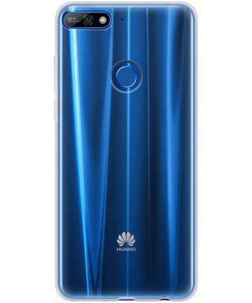 Huawei Y7 (2018) Hoesje Dun TPU Transparant
