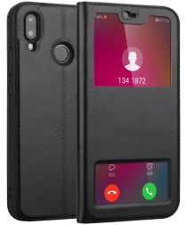 Huawei P20 Lite Dual Window View Case Zwart