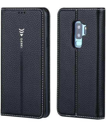 Gebei Samsung Galaxy S9 Plus Bookcase Zwart Hoesjes