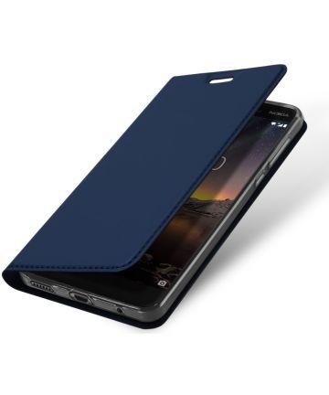 Dux Ducis Nokia 6 (2018) Premium Bookcase Blauw