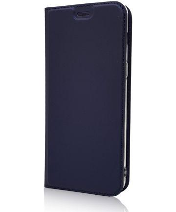 Samsung Galaxy A8 (2018) Portemonnee Hoesje Blauw Hoesjes