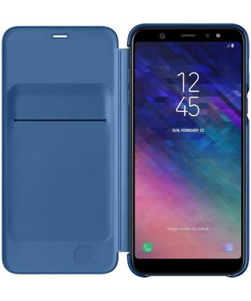 Samsung Galaxy A6 Plus Wallet Cover Blauw Hoesjes