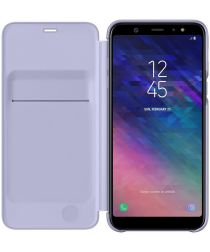 Samsung Galaxy A6 Plus Wallet Cover Lavender