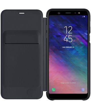 Samsung Galaxy A6 Plus Wallet Cover Zwart