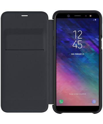 Samsung Galaxy A6 Wallet Cover Zwart