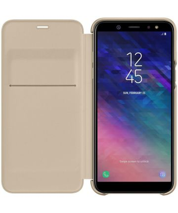 Samsung Galaxy A6 Wallet Cover Goud Hoesjes