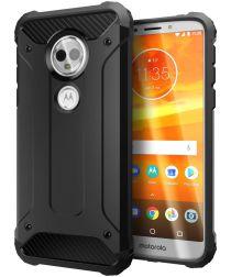 Motorola Moto E5 Plus Hybride Hoesje Zwart