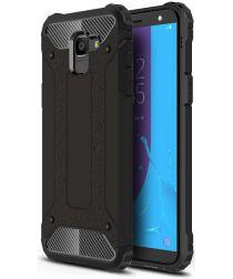 Samsung Galaxy J6 (2018) Hybride Hoesje Zwart