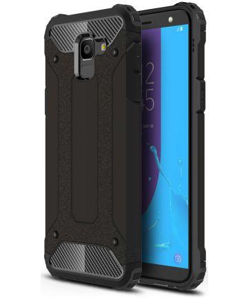 Samsung Galaxy J6 (2018) Hybride Hoesje Zwart Hoesjes