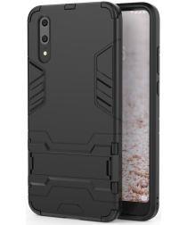 Huawei P20 Pro Hybride Hoesje met Kickstand Zwart