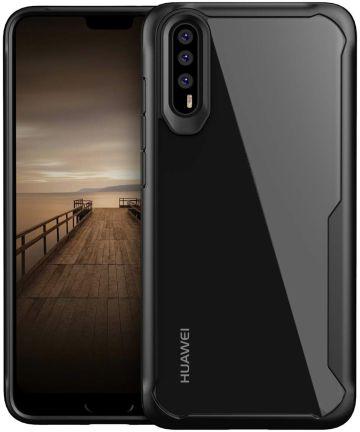 Huawei P20 Pro Schokabsorberend Hybride Hoesje Zwart Hoesjes