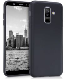 Samsung Galaxy A6 Plus TPU Hoesje Zwart