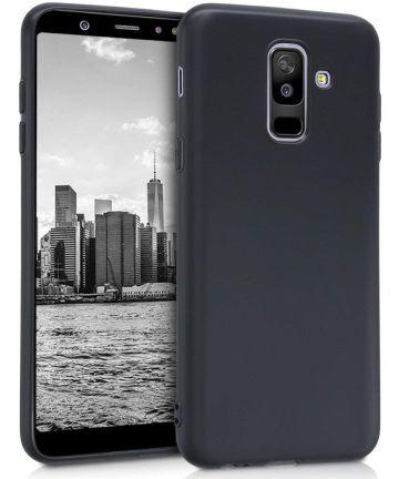 Samsung Galaxy A6 Plus TPU Hoesje Zwart Hoesjes