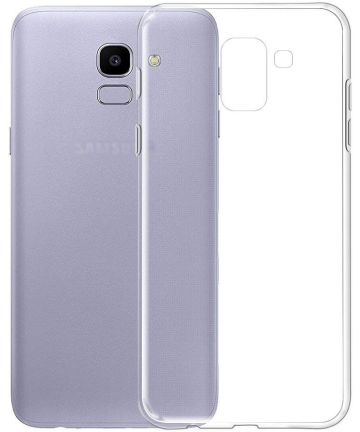 Samsung Galaxy J6 (2018) Hoesje Dun TPU Transparant Hoesjes