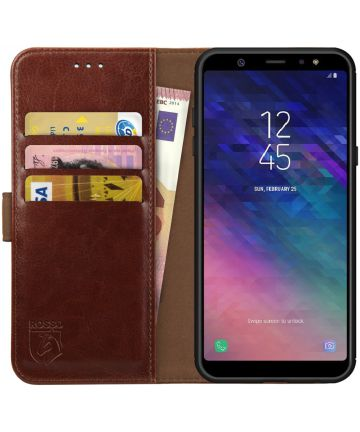 Rosso Element Samsung Galaxy A6 Plus Hoesje Book Cover Bruin