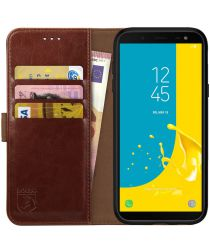 Rosso Element Samsung Galaxy J6 (2018) Hoesje Book Cover Bruin