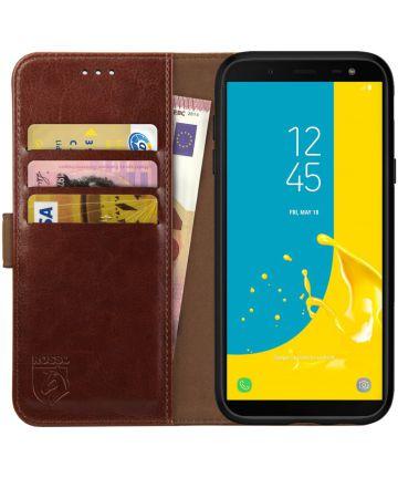 Rosso Element Samsung Galaxy J6 (2018) Hoesje Book Cover Bruin Hoesjes