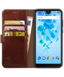Rosso Element Wiko View 2 Pro Hoesje Book Cover Bruin