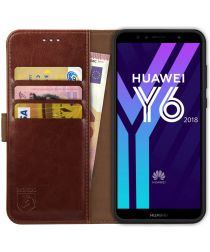 Rosso Element Huawei Y6 2018 Hoesje Book Cover Bruin
