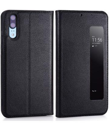 Huawei P20 Window View Hoesje Zwart