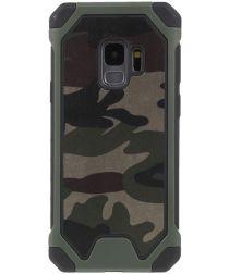 Samsung Galaxy S9 Hybride Camouflage Hoesje Groen