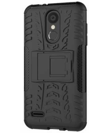 LG K9 Hybride Kickstand Hoesje Zwart