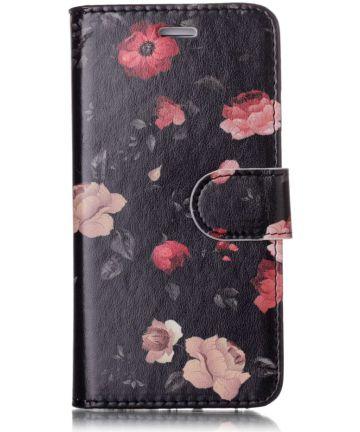 Apple iPhone 7 / 8 2-in-1 Portemonnee Hoesje met Print Bloemen