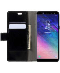 Samsung Galaxy A6 Plus Hoesje met Kaarthouder Zwart