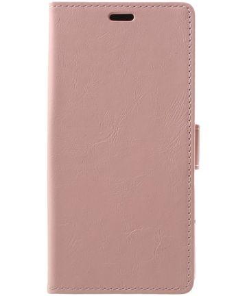 Samsung Galaxy A6 Hoesje met Kaarthouder Roze