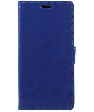 Samsung Galaxy A6 Hoesje met Kaarthouder Blauw