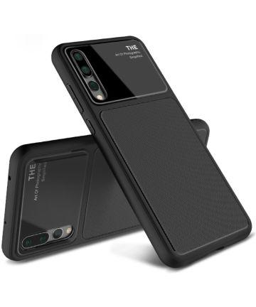 Huawei P20 Pro Tempered Glass TPU Hoesje Zwart Hoesjes