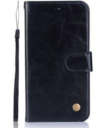 Nokia 6.1 / Nokia 6 (2018) Retro Portemonnee Hoesje Zwart