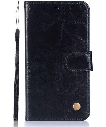 Nokia 6.1 / Nokia 6 (2018) Retro Portemonnee Hoesje Zwart Hoesjes