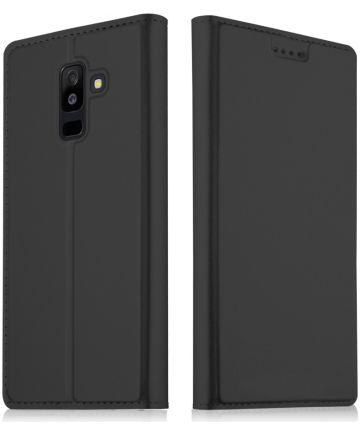 Samsung Galaxy A6 Premium Hoesje met Kaarthouder Zwart