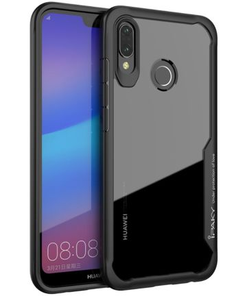 Ipaky Hybrid Back Cover Case Huawei P20 Lite Zwart