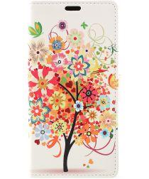 Samsung Galaxy J6 (2018) Lederen Portemonnee Hoesje Tree Print