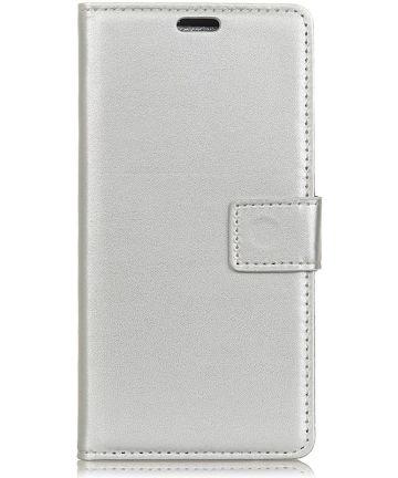 Samsung Galaxy A6 Lederen Wallet Stand Hoesje Wit Hoesjes