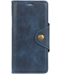 Samsung Galaxy A6 Lederen Wallet Book Case Blauw