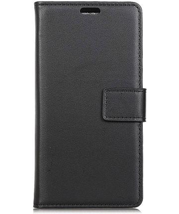 OnePlus 6 Kunstlederen Wallet Stand Hoesje Zwart Hoesjes