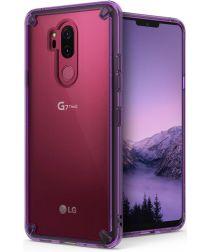 Ringke Fusion LG G7 ThinQ Hoesje Doorzichtig Orchid Purple
