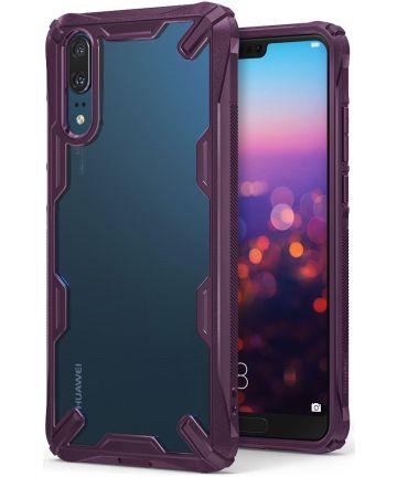 Ringke Fusion X Huawei P20 Hoesje Doorzichtig Lilac Purple Hoesjes