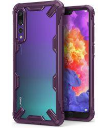 Ringke Fusion X Huawei P20 Pro Hoesje Doorzichtig Lilac Purple