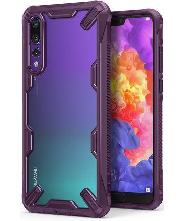 Ringke Fusion X Huawei P20 Pro Hoesje Doorzichtig Lilac Purple Hoesjes